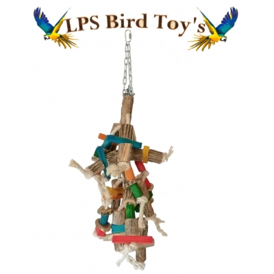 JUMBO MACAW WOOD ROPE TOY XL