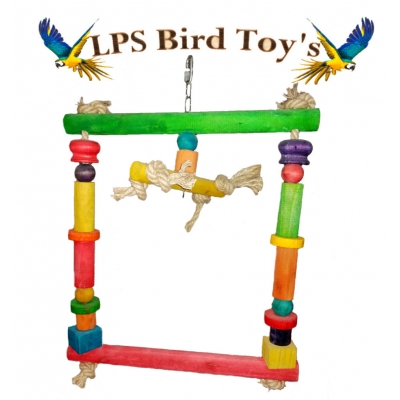 DOUBLE WOOD PERCHES TOY