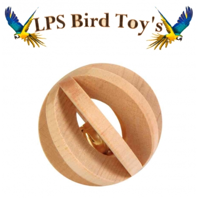 WOODEN BELL TOY BALL